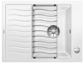 Granitový dřez Blanco ELON 45 S InFino bílá + odkapávací rošt nerez a excentr 524818