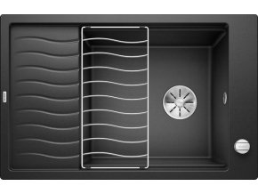 Granitový dřez Blanco ELON XL 6 S InFino antracit + odkapávací rošt nerez a excentr 524834