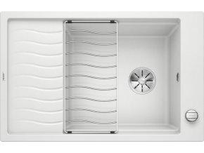 Granitový dřez Blanco ELON XL 6 S InFino bílá + odkapávací rošt nerez a excentr 524838