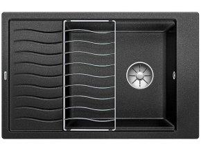 Granitový dřez Blanco ELON XL 6 S InFino antracit + odkapávací rošt nerez 524844  + Sanitární silikon + Designové masivní dřevěné krájecí prkénko z akácie