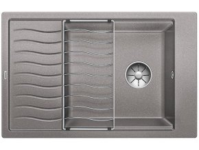 Granitový dřez Blanco ELON XL 6 S InFino aluminium + odkapávací rošt nerez 524846