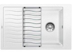 Granitový dřez Blanco ELON XL 6 S InFino bílá + odkapávací rošt nerez 524848