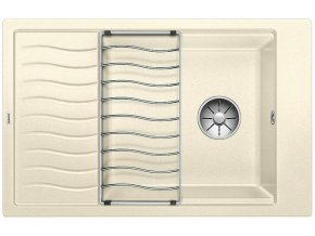 Granitový dřez Blanco ELON XL 6 S InFino jasmín + odkapávací rošt nerez 524849
