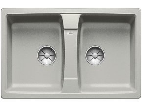 Granitový dřez Blanco LEXA 8 InFino perlově šedá  524963  + Sanitární silikon + Designové masivní dřevěné krájecí prkénko z akácie