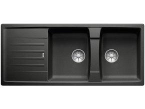 Granitový dřez Blanco LEXA 8 S InFino antracit  524980  + Sanitární silikon + Designové masivní dřevěné krájecí prkénko z akácie