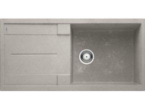 Granitový dřez Blanco METRA XL 6 S Beton-Style 525316  + Sanitární silikon + Designové masivní dřevěné krájecí prkénko z akácie