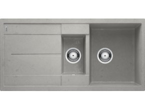 Granitový dřez Blanco METRA 6 S Beton-Style 525314  + Sanitární silikon + Designové masivní dřevěné krájecí prkénko z akácie