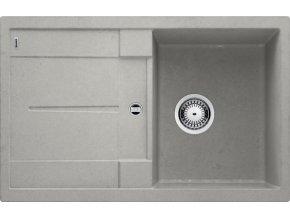 Granitový dřez Blanco METRA 45 S Beton-Style 525312  + Sanitární silikon + Designové masivní dřevěné krájecí prkénko z akácie