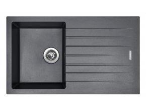 Granitový dřez Sinks PERFECTO 860 Titanium  + Čistič pro granitové dřezy SINKS