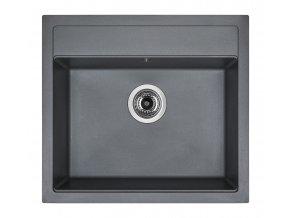 Granitový dřez Sinks SOLO 560 Titanium  + Čistič pro granitové dřezy SINKS