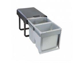 Vestavný odpadkový koš Sinks EKKO FRONT 40 2x16l