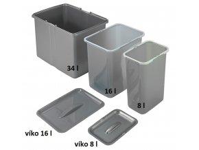 Víko koše pro volně stojící koše Sinks 8 L