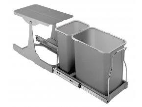 Vestavný odpadkový koš Sinks PATTY 30 1x8l+ 1x16l