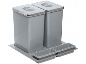 Systém košů Sinks PRACTIKO 600 pro vložení do zásuvky 2x 20 L + misky