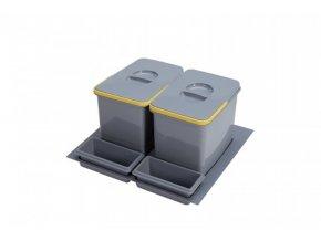 Systém košů Sinks PRACTIKO 600 pro vložení do zásuvky 2x 12 L + misky