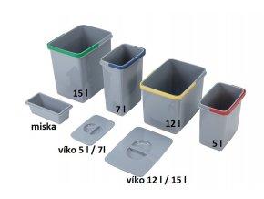 Víko koše pro volně stojící koše Sinks 5 a 7 L