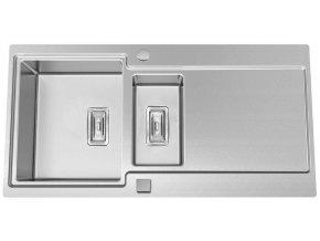 Nerezový dřez Sinks EVO 1000.1 1,2mm s excentrem  + Čistící pasta pro nerezové dřezy SINKS + Designové masivní dřevěné krájecí prkénko z akácie
