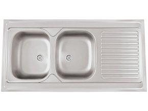Nerezový dřez Sinks CLP-A 1200 DUO M 0,6mm matný  + Čistící pasta pro nerezové dřezy SINKS