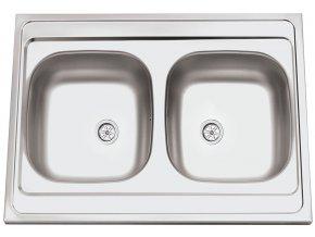 Nerezový dřez Sinks CLP-A 800 DUO M 0,5mm matný  + Čistící pasta pro nerezové dřezy SINKS
