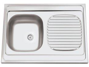 Nerezový dřez Sinks CLP-A 800 M 0,5mm matný  + Čistící pasta pro nerezové dřezy SINKS