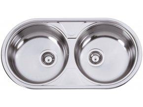 Nerezový dřez Sinks DUETO 847 V 0,6mm leštěný  + Čistící pasta pro nerezové dřezy SINKS
