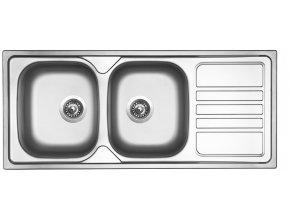Nerezový dřez Sinks OKIO 1160 DUO V 0,6mm leštěný  + Čistící pasta pro nerezové dřezy SINKS