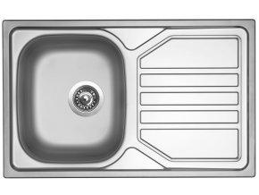 Nerezový dřez Sinks OKIO 800 V 0,6mm texturovaný  + Čistící pasta pro nerezové dřezy SINKS