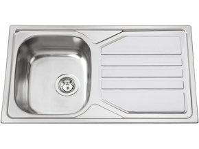 Nerezový dřez Sinks OKIO 860 XL V 0,6mm matný  + Čistící pasta pro nerezové dřezy SINKS