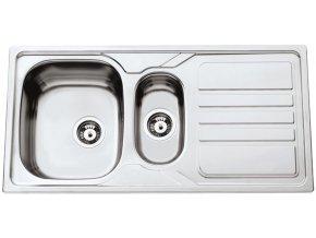 Nerezový dřez Sinks OKIO 1000.1 V 0,6mm matný  + Čistící pasta pro nerezové dřezy SINKS