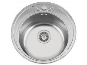 Nerezový dřez Sinks REDONDO 510 M 0,6mm matný  + Čistící pasta pro nerezové dřezy SINKS