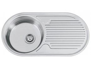 Nerezový dřez Sinks SEMIDUETO 847 V 0,6mm matný  + Čistící pasta pro nerezové dřezy SINKS
