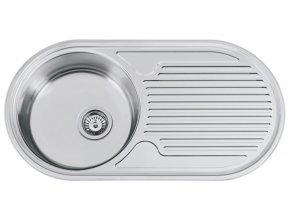 Nerezový dřez Sinks SEMIDUETO 847 V 0,6mm matný leštěný  + Čistící pasta pro nerezové dřezy SINKS
