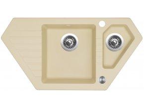 Granitový dřez Sinks BRAVO 850.1 Sahara  + Čistič pro granitové dřezy SINKS