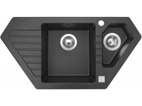 Granitový dřez Sinks BRAVO 850.1 Granblack  + Čistič pro granitové dřezy SINKS