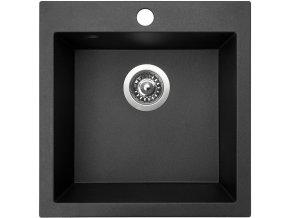 Granitový dřez Sinks VIVA 455 Metalblack  + Čistič pro granitové dřezy SINKS