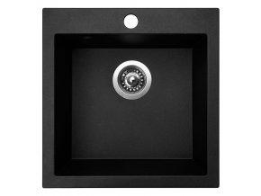 Granitový dřez Sinks VIVA 455 Granblack  + Čistič pro granitové dřezy SINKS