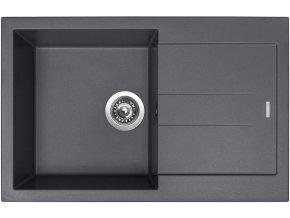 Granitový dřez Sinks AMANDA 780 Titanium  + Čistič pro granitové dřezy SINKS
