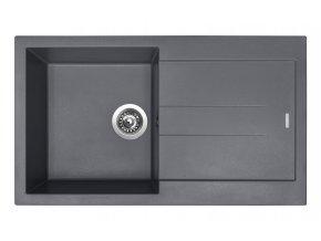 Granitový dřez Sinks AMANDA 860 Titanium  + Čistič pro granitové dřezy SINKS