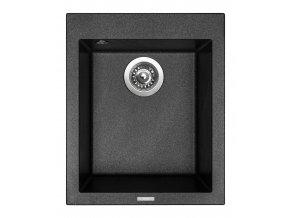 Granitový dřez Sinks CUBE 410 Metalblack  + Čistič pro granitové dřezy SINKS
