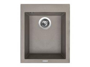 Granitový dřez Sinks CUBE 410 Truffle  + Čistič pro granitové dřezy SINKS