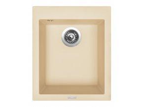 Granitový dřez Sinks CUBE 410 Sahara  + Čistič pro granitové dřezy SINKS
