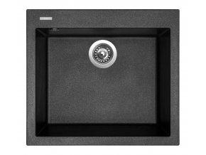Granitový dřez Sinks CUBE 560 Metalblack  + Čistič pro granitové dřezy SINKS