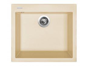 Granitový dřez Sinks CUBE 560 Sahara  + Čistič pro granitové dřezy SINKS