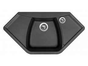 Granitový dřez Sinks NAIKY 980 Metalblack  + Čistič pro granitové dřezy SINKS
