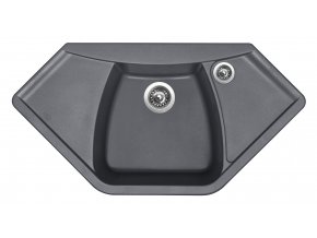 Granitový dřez Sinks NAIKY 980 Titanium  + Čistič pro granitové dřezy SINKS