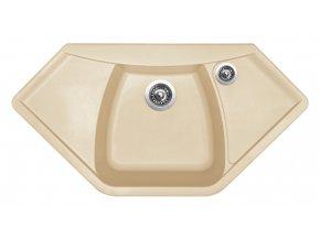 Granitový dřez Sinks NAIKY 980 Sahara  + Čistič pro granitové dřezy SINKS