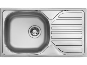 Nerezový dřez Sinks COMPACT 760 V 0,5mm matný  + Čistící pasta pro nerezové dřezy SINKS