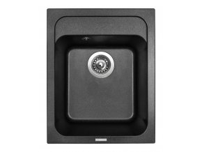 Granitový dřez Sinks CLASSIC 400 Metalblack  + Čistič pro granitové dřezy SINKS