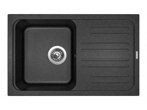 Granitový dřez Sinks CLASSIC 740 Granblack  + 2x Čistič pro granitové dřezy SINKS
