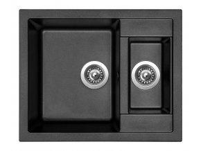 Granitový dřez Sinks CRYSTAL 615.1 Metalblack  + Čistič pro granitové dřezy SINKS